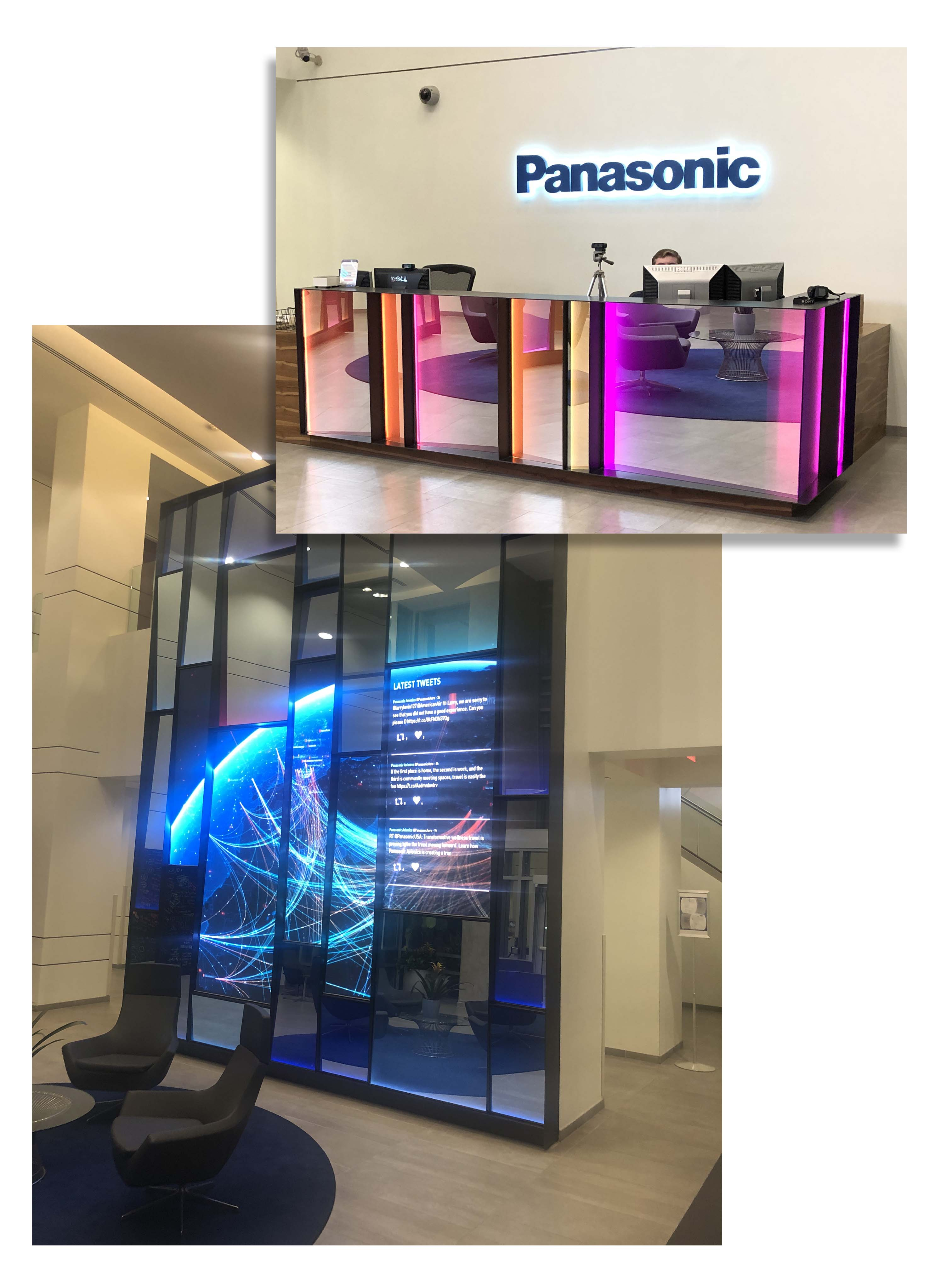 Panasonic Avionics LED installation